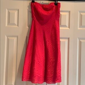 J Crew Hot Pink Strapless Dress